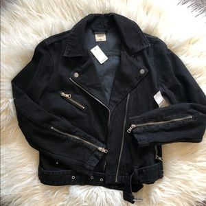 Women's Gap Black Jean Jacket Size Small